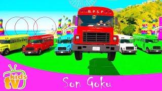 RENK OTOBÜS ve Motosikletler w süper KAHRAMAN ÖĞREN SAYILAR Çocuklar ve Çocuklar için 3d Animasyon Çizgi film