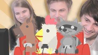 КУРОЧКА, КОНЬ И ЕНОТ | Рэнделл, Лизка и Совергон | Смешные моменты
