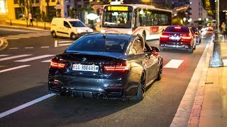 Slammed BMW M4 F82 w/ Custom Exhaust - Drifts, Revs & Accelerations !