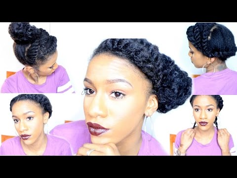 short-natural-hair-protective-styles- -quick-flat-twists