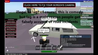 ROBLOX: Sweden Parliament comedy demonstration - appeal for less road strictness.