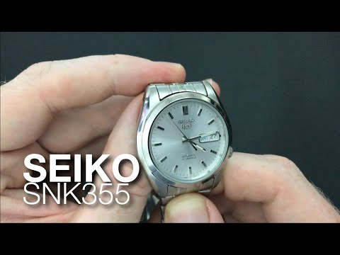 Seiko SNK355 White Dial Rolex Oyster Copy - The Best Cheap Homage Dress Formal Watch