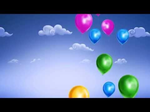 Футажи для видеомонтажа фон поздравляем с днем рождения