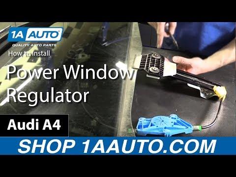 How to Install Power Window Regulator Rear Door 2003-08 Audi A4