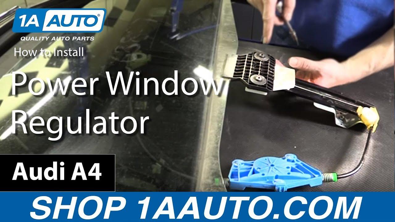 Without Motor 02-08 Audi A4 Front Driver Door Window Regulator
