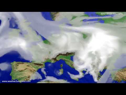 Cloud forecast Europe 2017-10-20