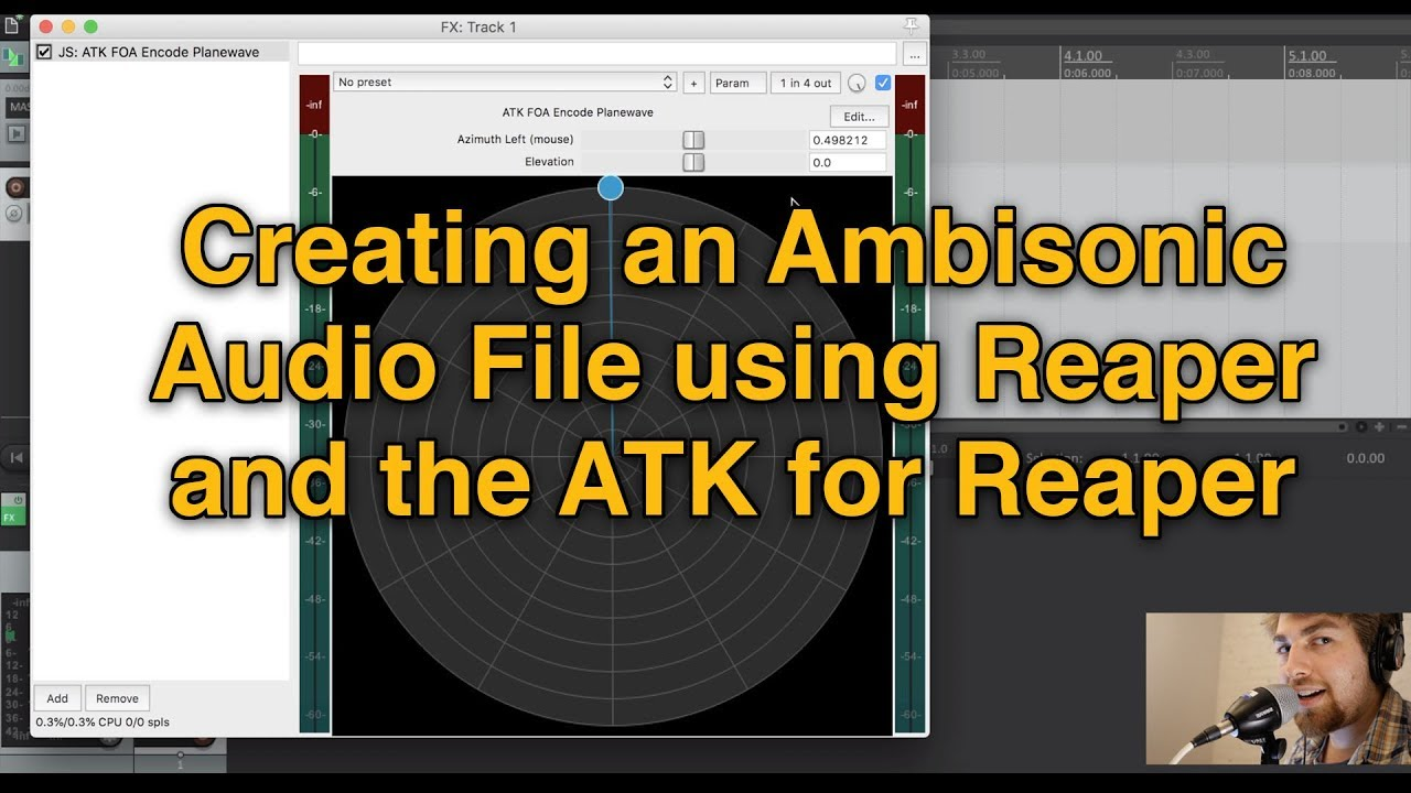 Creating an Ambisonic Audio File using Reaper and the ATK for Reaper