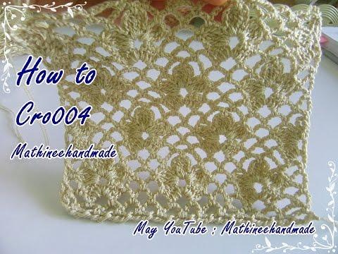 How to Cro004 Crochet pattern / ถักผังลายโครเชต์ ดอกมะลิในตำนาน _ Mathineehandmade