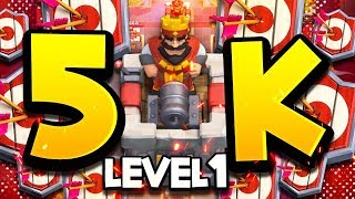 Lvl 1 GETS 5,000 TROPHIES! NEW WORLD RECORD