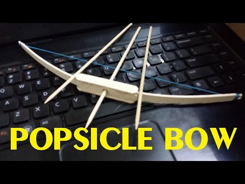 Generation 1 - How To Make A Mini Popsicle Bow - Mini Weapon