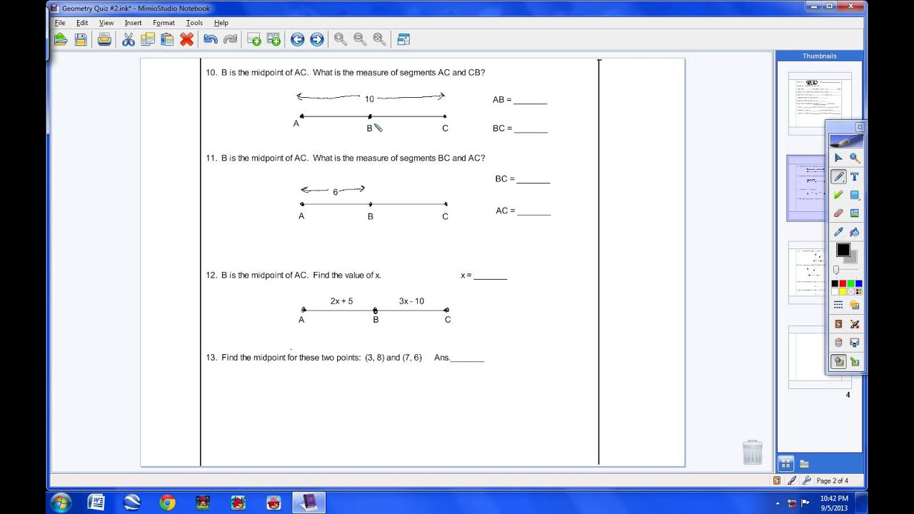 Geometry Quiz #2 - YouTube
