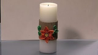 How to Make Filigree Decorative Candle- HomeArtTv By Juan Gonzalo Angel