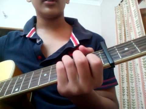 How To Play Castle Of Glass On An Acoustic Guitar Youtube