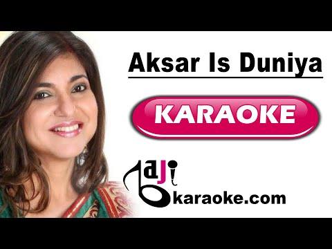 Aksar is duniya mein - Video Karaoke - Dhadkan - Alka - by Baji Karaoke