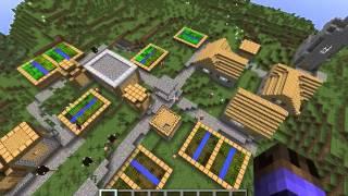 Semilla/Seed Minecraft Aldea y Mina 1.7.10 1.7.4