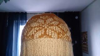 ВЯЗАНИЯ СПИЦАМИ! Шапка с НОРВЕЖСКИМ УЗОРОМ(жаккардовый узор)knitting