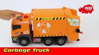 Dickie narancssárga pumpás kukásautó játék