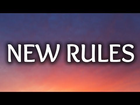 Image Description of : Dua Lipa ‒ New Rules (Lyrics) 🎤