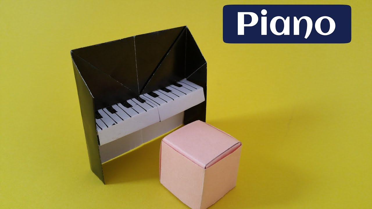 tutorial piano origami