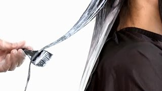 Окрашивание волос в коричневый цвет и темно русые пряди(Профессиональный метод окрашивания длинные волосы., 2016-02-11T19:45:33.000Z)