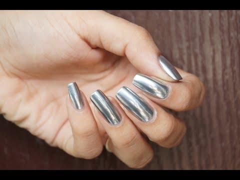 DIY *MIRROR* Nails | No Gel No Chrome Powder