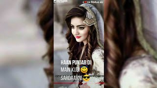 Female Version Sad + Love Full Screen Whatsapp Status  New Punjabi Status  Tiktok Ban Love