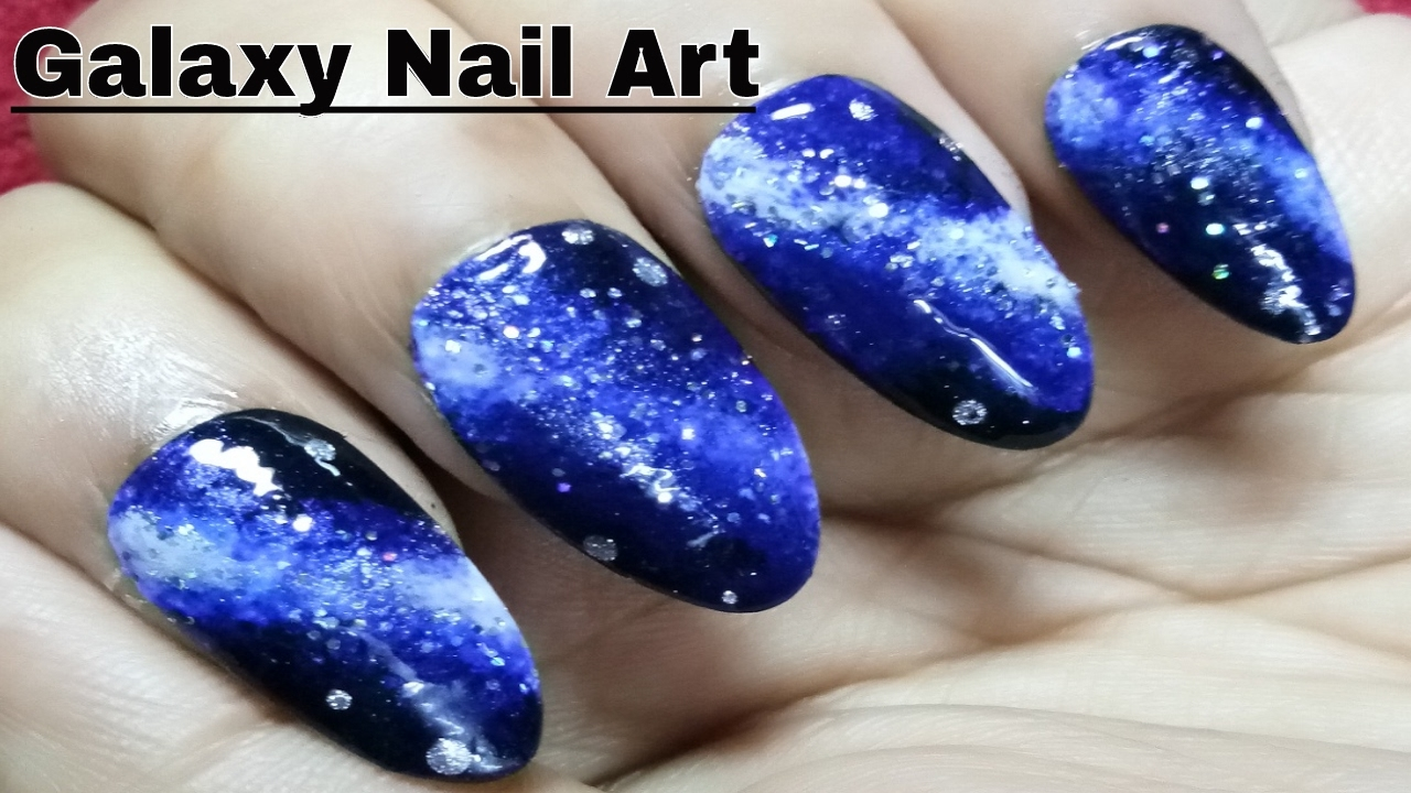 Best Galaxy Nail Art Designs Using Sponge After Manicure 2017 - YouTube