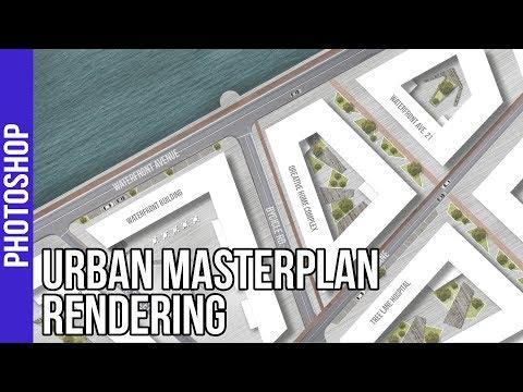Urban Landscape Masterplan Rendering Photoshop Tutorial