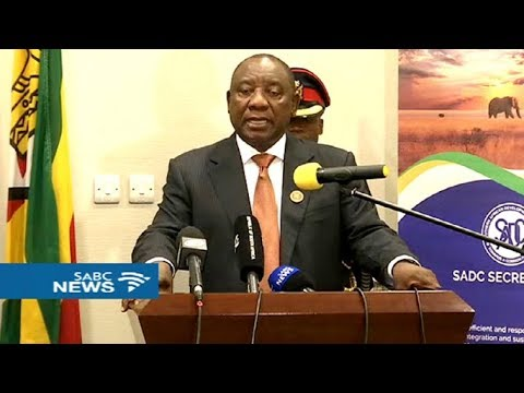 Pres Ramaphosa on a visit to Botswana