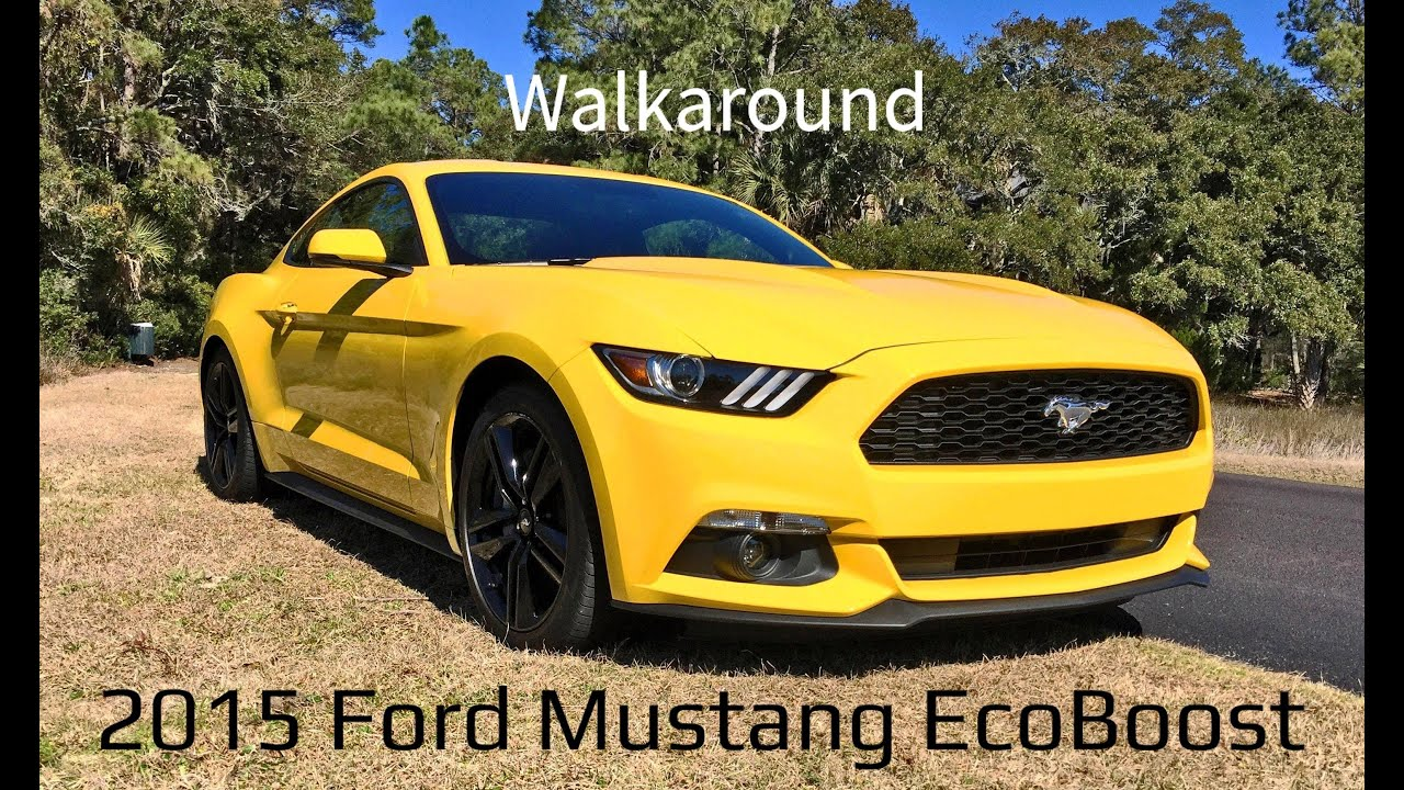 Walkaround 2015 ford mustang ecoboost in triple yellow