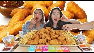 100 CHICKEN NUGGET CHALLENGE MUKBANG w/ VERONICA WANG