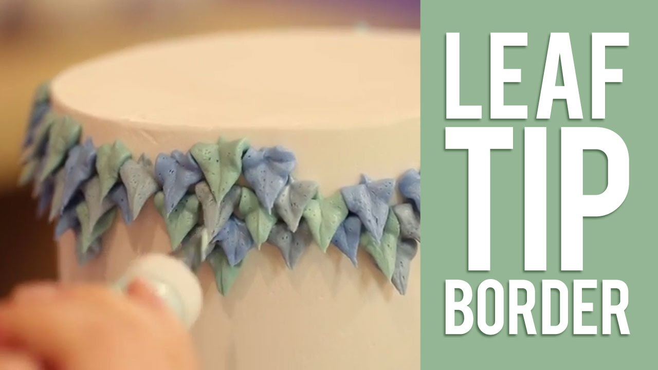Cake Decorating Leaf Tips : How to Decorate A Buttercream Cake Using Only Tip #352 ...