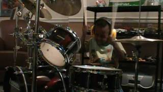 AC/DC - Back in Black, 3 year old drummer, Jonah Rocks