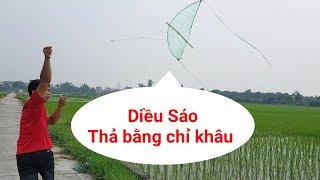 Hướng dẫn chế tạo diều sáo nhỏ nhất Việt Nam    Thọ Vlogs   Diều quốc dân