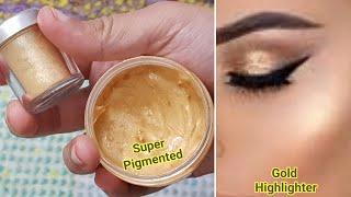 DIY Cream Gold Highlighter/ Make your own Highlighter at home/DIY primer / Gold Face illuminator