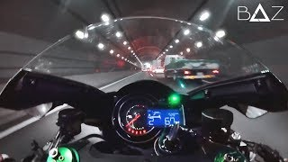 Yamaha R1, BMW S1000RR, Ninja H2 In Tunnel