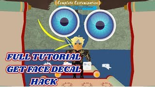 [LEAKED] Roblox Shinobi life - Full Tutorial get Face Decal! Face decal hack (Works 1000%)