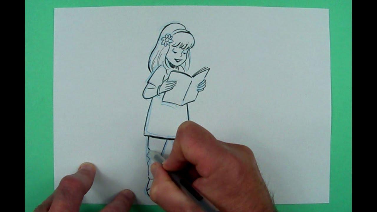 Wie Zeichnet Man Ein Madchen Zeichnen Fur Kinder Youtube