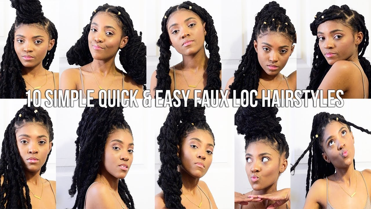 hair | 10 simple quick & easy faux loc hairstyles | takara oneá