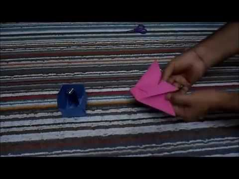 How to make Pencil Pot Holder box | Paper pencil box origami at step by step