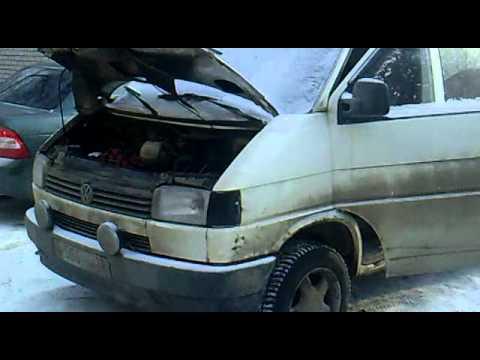Volkswagen Transporter T-4 ABL.Cold start diesel!Дизель,минус 32.Запуск.