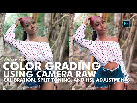 Photoshop Tutorial   Color Grading Using Camera Raw, Split Toning and HSL Adjustments thumbnail