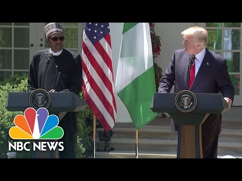 President Donald Trump & Nigeria's President Muhammadu Buhari Hold Joint News Conference | NBC News