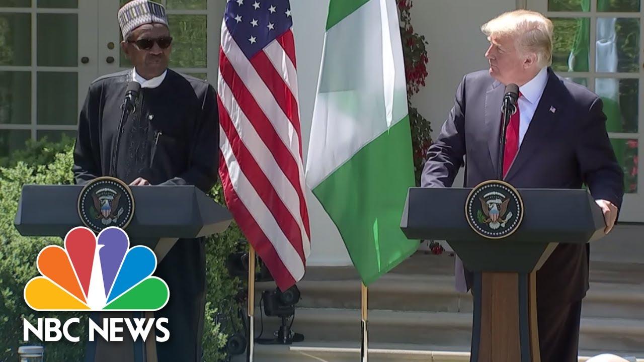 Download President Donald Trump & Nigeria's President Muhammadu Buhari Hold Joint News Conference | NBC News