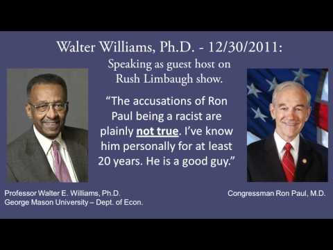 Walter Williams defends Dr. Paul. He is not Racist