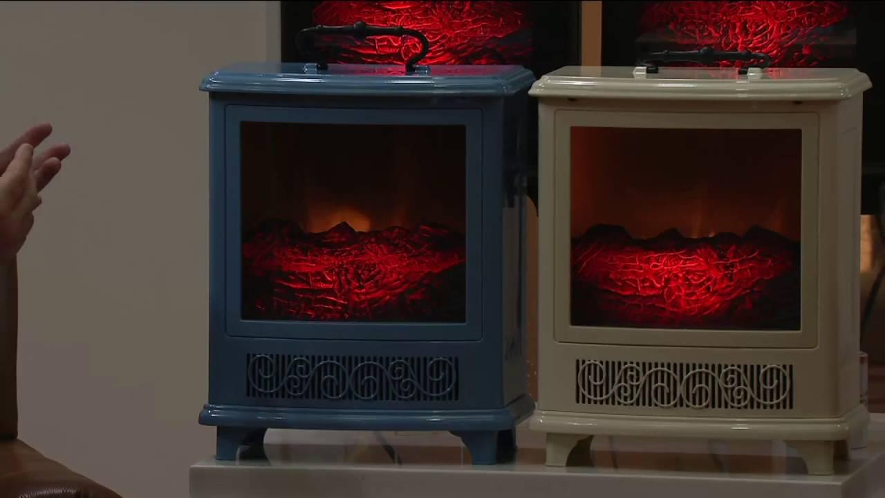 Duraflame Portable Stove Heater W/Handle U0026 Flame Effect On QVC