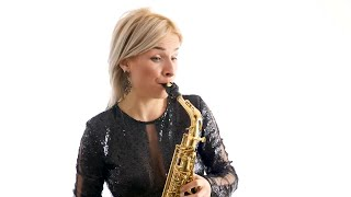 Musician Playing A Saxophone Stock Video