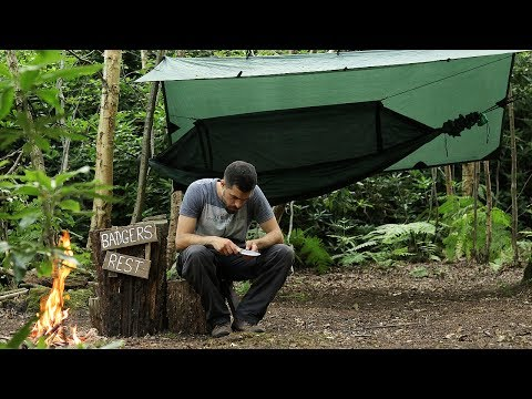 Solo Overnight at The Bushcraft Camp - Minimal Gear, Lightweight Campout