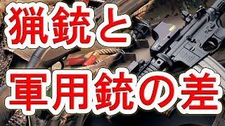【実銃解説】猟銃と軍用銃の違い【NHG】