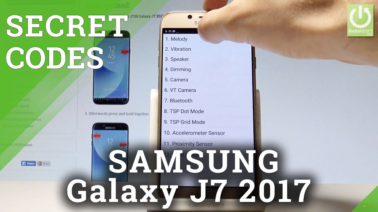 Secret Codes SAMSUNG Galaxy J7 2017 - Hidden Mode / Secret Menu